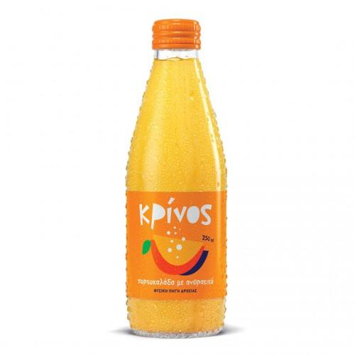Krinos Orangeade carbonated - 250ml - J.K.ANASTASOPOULOS & SON O.E