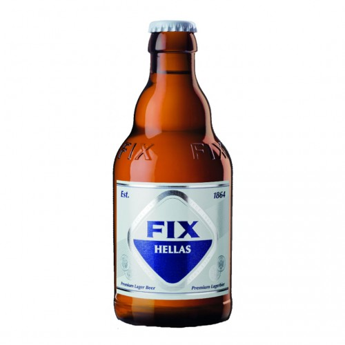 Fix Hellas Beer bottle - 330ml - 5% vol - Olympic Brewery