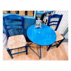 Traditional Set of a table and two chairs - Hellinikon