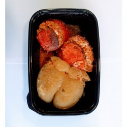 Frozen Gemistà, baked tomatoes and peppers stuffed with rice - 400gr - Spitika Trofima