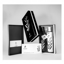 Double gift box (contains 2 bottles of extra virgin olive oil) - 500ml + 500ml - Etolea