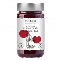 Cherry Jam with  Mastic liqueur - 280gr - Evlogia