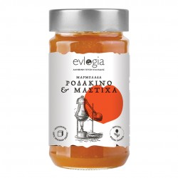Peach Jam with liqueur Mastic - 280gr - Evlogia