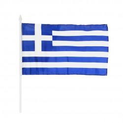 Greek flag with handle - 32x45cm (Handle = 60cm) - Hellinikon