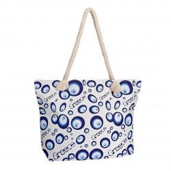 """Beach bag """"lucky eyes Greece"""" - 49x35x14cm - Hellinikon"""