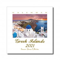 Calendar HQ Greek Islands 20x21cm - Summer Dream