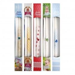 Decorated Easter candle in colored box - 38cm x f14mm - Hellinikon