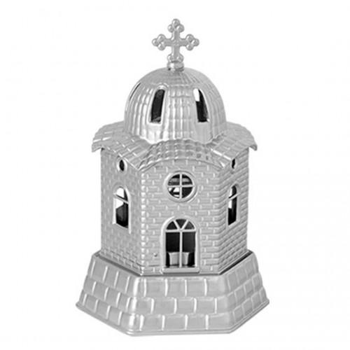 "Metal oil table lamp ""Church"" - 18x10cm - Hellinikon"