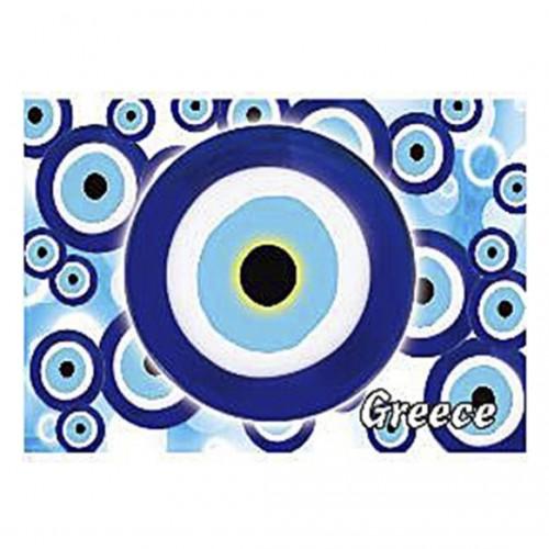 Magnetic with Eye brings good luck 8x5.5cm - Hellinikon