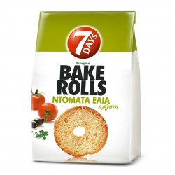 Bake Rolls 7DAYS Mini Paximàdia with tomato and olive - 112gr - Chipita