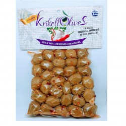 Spicy whole green olives - 250gr - Krikellos Olives