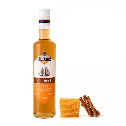 Rakomelo Liqueur (tsikoudià and honey) 25% vol - 500ml - Loukatos