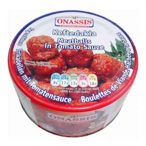 """Meatballs """"keftedakia"""" in Tomato Sauce - Ready Meal - 280gr - Onassis"""