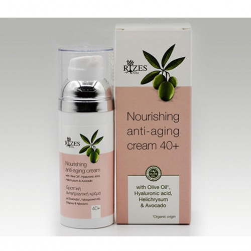Nourishing anti-aging cream 40+ BIO - 50ml - Rizes Crete