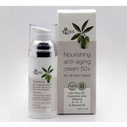 Nourishing anti-aging cream 50+ BIO - 50ml - Rizes Crete