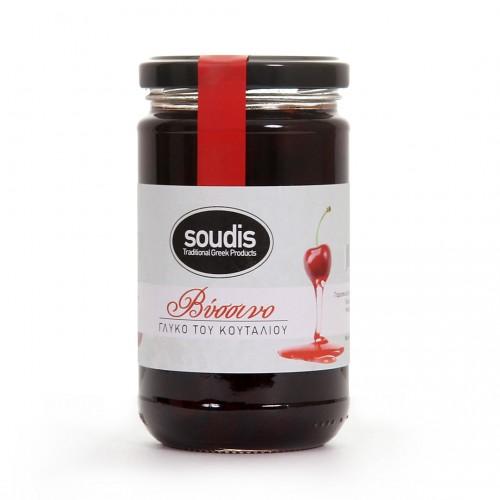 Greek Sour Cherry Spoon Sweet - 380gr - Soudis