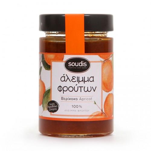 Traditional Apricot Jam sugar free - 212ml - Soudis