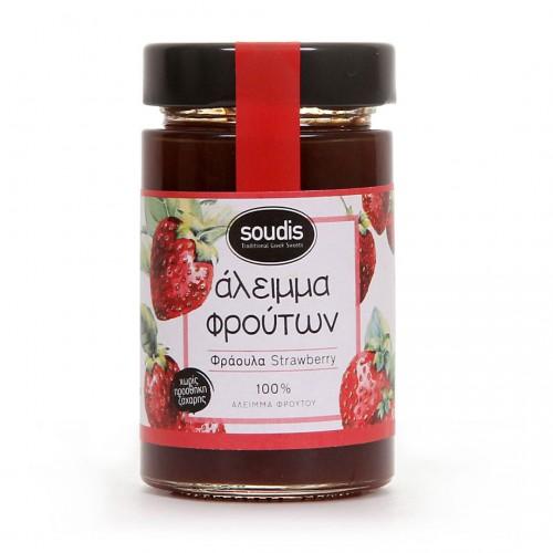 Traditional Strawberry Jam sugar free - 212ml - Soudis