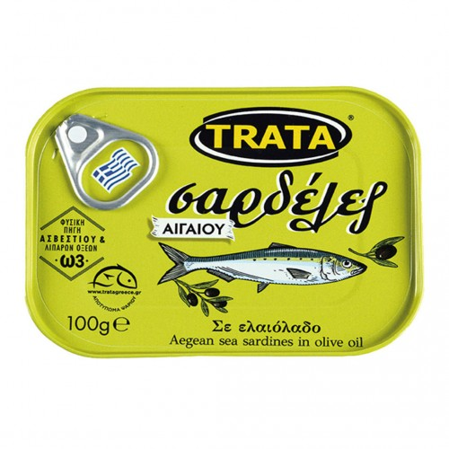 "Sardines ""Aegeo"" in olive oil - 100gr - Trata"