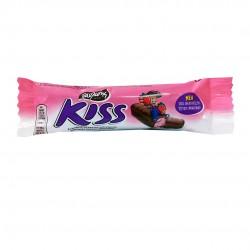Kiss chocolate bar with strawberry - 27,5gr - Pavlidis