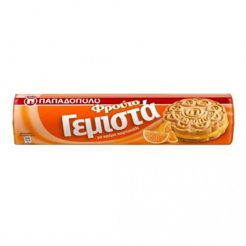 """Sandwich Biscuits with Orange Cream """"Gemista"""" - 200gr - Papadopoulou"""