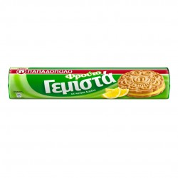 "Sandwich Biscuits with lemon cream ""Gemista"" - 200gr - Papadopoulou"