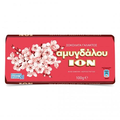 "Greek milk chocolate ION with almonds ""AMIGDALOU"" - 100gr - ION"